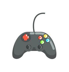 Video game controller gamepad colorful cartoon vector