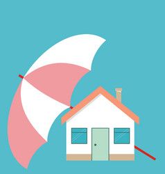 house under the umbrella concept of security of vector image