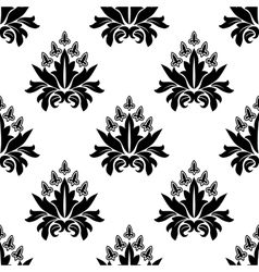 Floral seamless pattern with decorative flowers vector