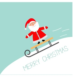 Sleigh with santa claus rolling downhill motion vector