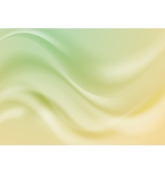 Abstract green and yellow wavy shiny vector