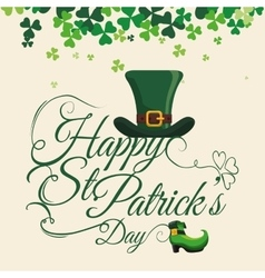 Happy saint patricks day design vector