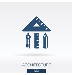 Architecture and construction concept icon vector