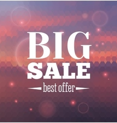 Big sale poster with different element vector