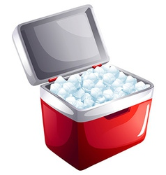 A bucket of icecubes vector