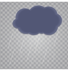 Abstract Cloud with Rain Drops on Transparent vector image vector image
