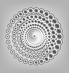 Abstract technology circles sign pencil vector