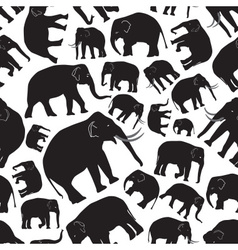 Black elephants seamless pattern eps10 vector