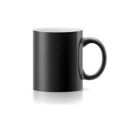 Black mug on white vector image vector image