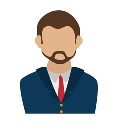 business man suit tie vector image