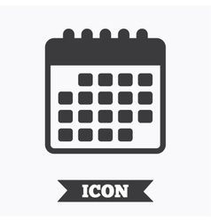 Calendar icon Event reminder symbol vector image vector image