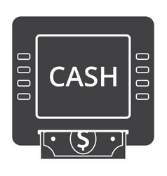 Cash machine icon vector