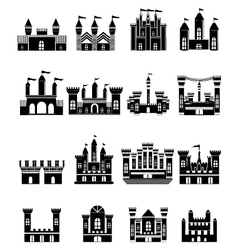 Castle icons set vector