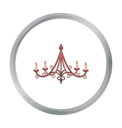 Chandelier icon in cartoon style isolated on white vector image vector image