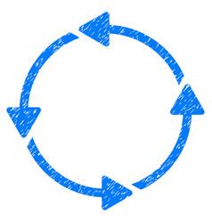 Circular route grunge icon vector