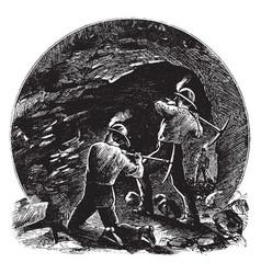 Coal mine vintage vector