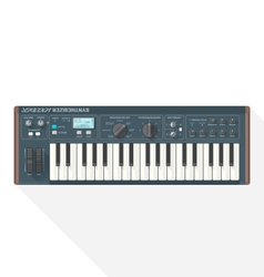 Color flat style piano roll synthesizer vocoder vector