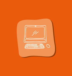 computer technology scribble vector image vector image