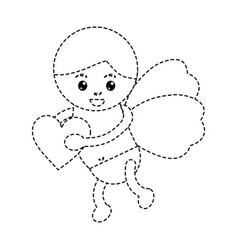 cupid holding heart love romantic image vector image