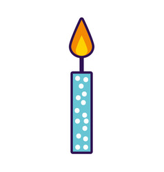 cute birthday candle cartoon vector image