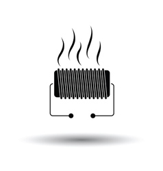 Electrical heater icon vector image vector image