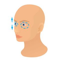 Eyelids plastic correction icon cartoon style vector