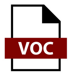 File name extension voc type vector