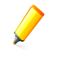 highlighter pen vector image