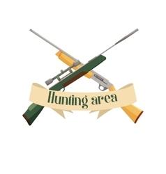 Hunting area design emblem vector