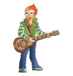 male guitarist vector image