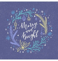Merry and bright vector image