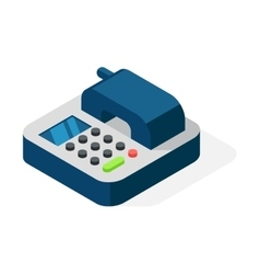 Office phone isometric vector