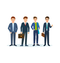 Office workers in beautiful business suits vector