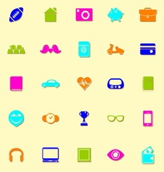 Personal data neon icons with shadow vector