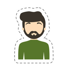 portrait character man male vector image vector image