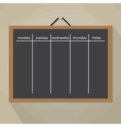Scrum task board hanging on wall vector