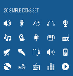 Set of 20 editable song icons includes symbols vector