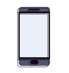 smartphone icon in watercolor silhouette on white vector image vector image