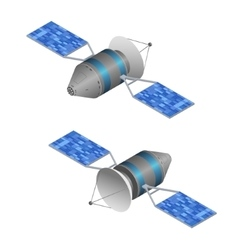 Solar observation satellite isometric view vector