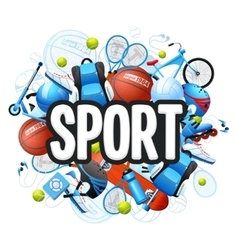 Summer Sports Concept vector image vector image