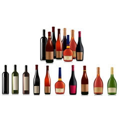 super group of bottles vector image vector image