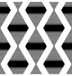 The pattern of the black striped rhombuses vector image vector image