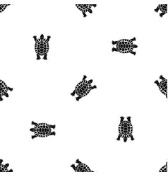 turtle pattern seamless black vector image