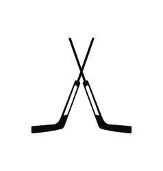 Two crossed hockey sticks icon vector