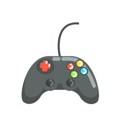video game controller gamepad colorful cartoon vector image