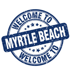 Welcome to myrtle beach vector