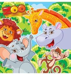 Zoo Joyful animals vector image