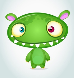 Cute cartoon monster alien vector image