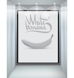 white banana vector image