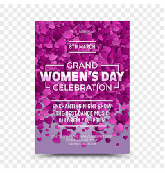 womens day flyer design template vector image